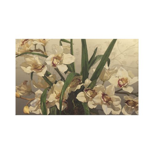 Orchids Drawing wrappedcanvas