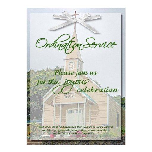 ordination invitation template