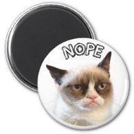 Original Grumpy Cat Round Magnet