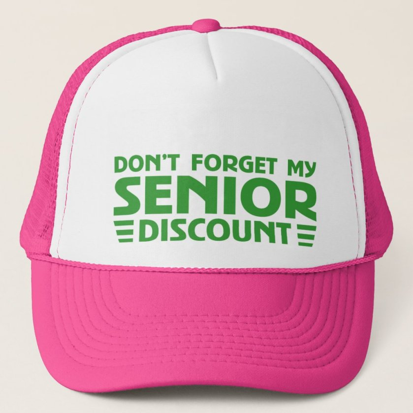 ORIGINAL SENIOR DISCOUNT TRUCKER HAT