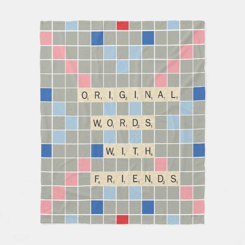 Original Words With Friends Fleece Blanket