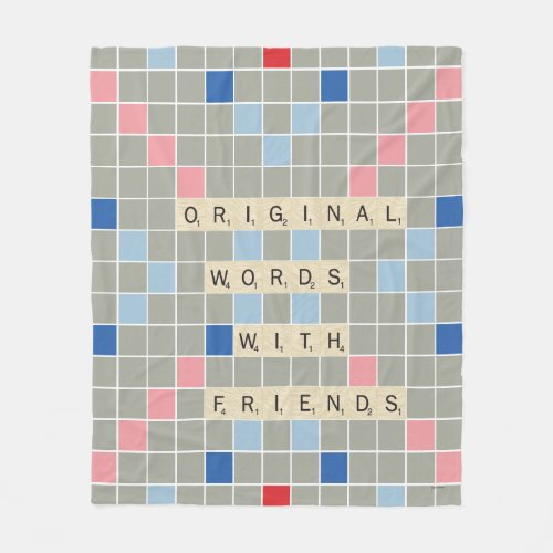 Original Words With Friends Fleece Blanket