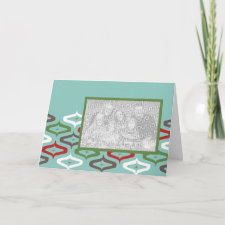 ornament retro photo template card