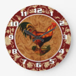 Ornate and Elegant Rooster clockck Wall Clocks