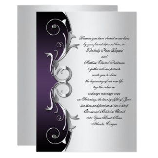 Creative Le Purple Wedding Invitation Iwi088