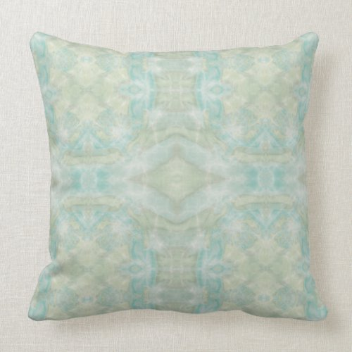 Ornate Tiled Teal and Aqua Pillow