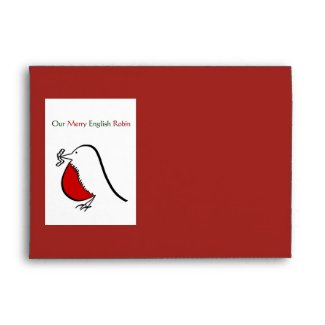 Our Merry English Robin Envelope
