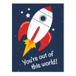 ❤️ Out of This World Rocket Birthday Postcards
