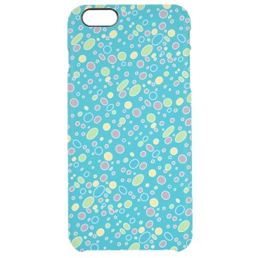 Oval polka dots pink green yellow blue clear iPhone 6 plus case