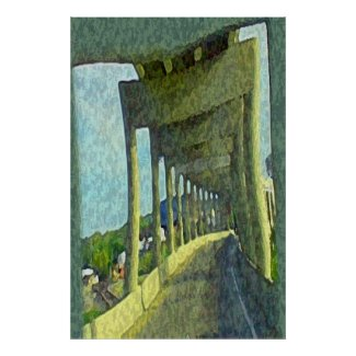 Over & Under Bridge print