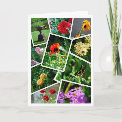 Overland Park Arboretum Collage Greeting Card card