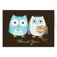Owls Wedding Thank You Card