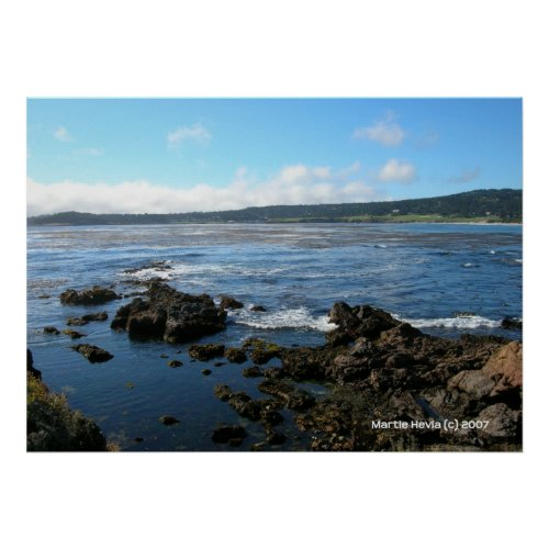 Pacific Grove on the Rocks zazzle_print