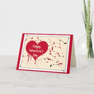 Painted heart - Card card