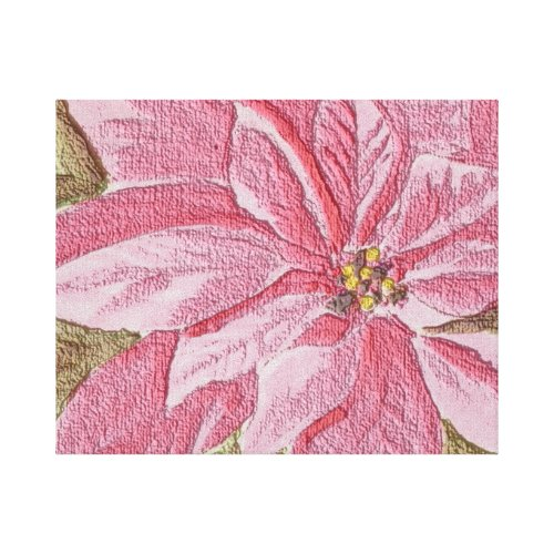 Painted Poinsettia Christmas Flower Canvas Print