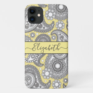 Paisley Pattern Personalized iPhone 11 Case
