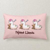 Pajama Llama Lumbar Pillow