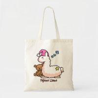 Pajama Llama Tote Bag