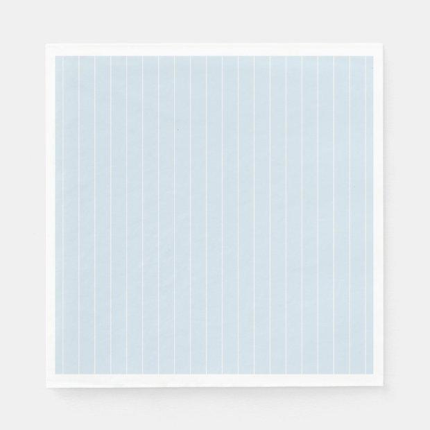 Pale Blue and White Modern Pin Stripe Napkin