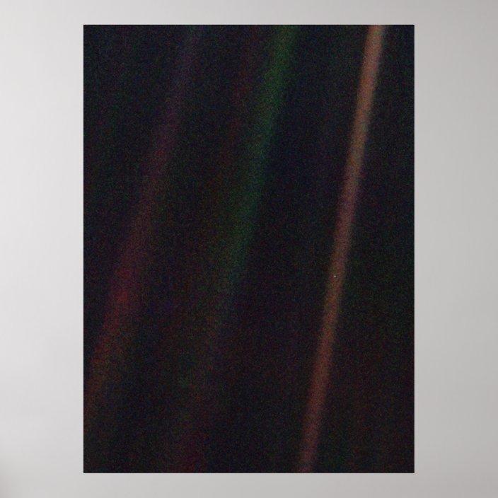 pale blue dot poster zazzle com