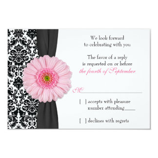 Wedding Program In Pale Pink Check And Black Text