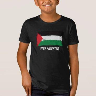 Palestine Flag Brush Art - Free Palestine T-Shirt