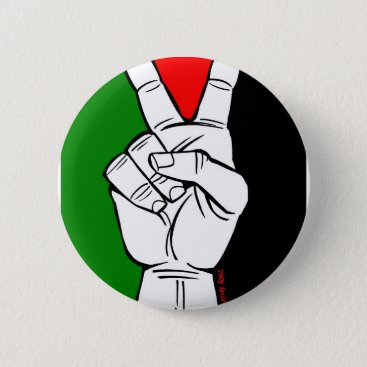 PALESTINE FLAG PEACE SIGN PINBACK BUTTON