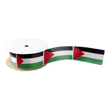 Palestine Flag Satin Ribbon