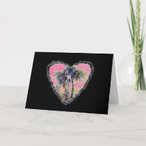 Palm Heart Valentine Love Romance Card