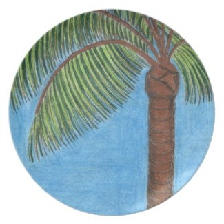 Palm Tree Plate by Julia Hanna