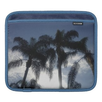 Palm Trees Sky Sleeves For iPads
