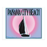 Panama City Beach Airbrushed Look Boat Sunset postcards