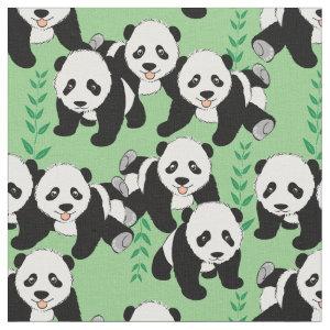 Panda Bears Graphic Fabric