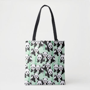 Panda Bears Graphic Tote Bag