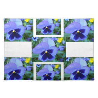 Pansies CricketDiane Floral Spring Flower Placemat placemat