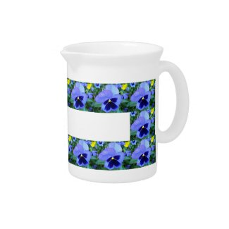 Pansies - CricketDiane Photographic Floral Pitcher pitcher