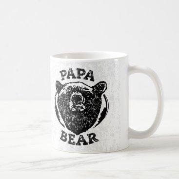 """Papa Bear"" Vintage Style Black Bear Dad Mug"