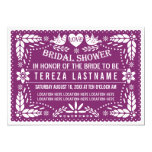 Papel picado modern purple wedding bridal shower invitation