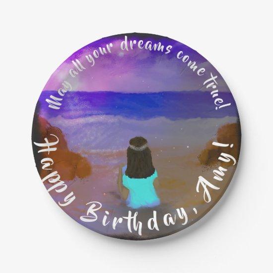 Paper Plate Dreamie! Girls Beach Birthday Painting