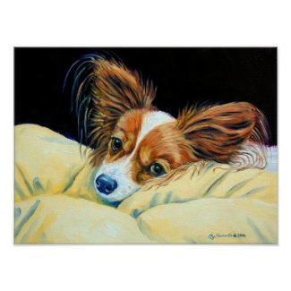 Papillon Dog Wall Print
