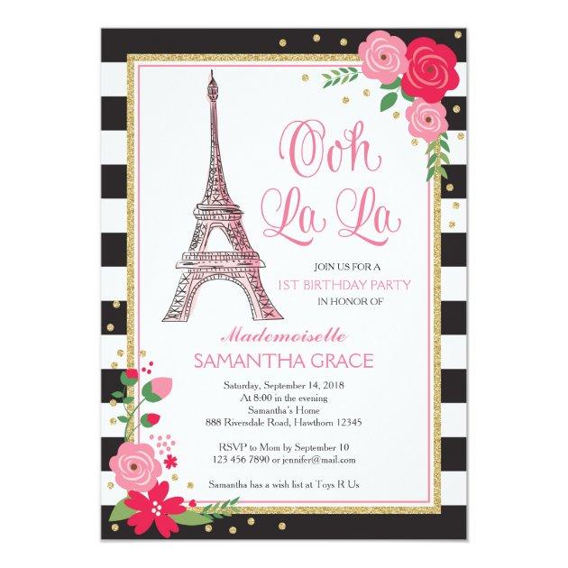 personalized parisian birthday invitations custominvitations4u com