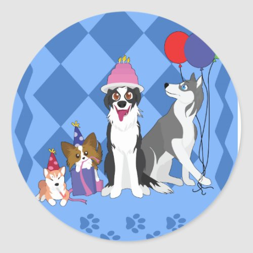 Party Animals Classic Round Sticker