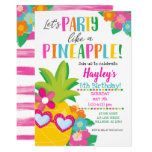 Party Like a Pineapple Tropical Luau Invitation
