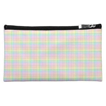 Pastel Checkerboard Makeup Bag