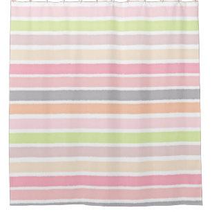 multicolor stripes shower curtains zazzle