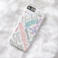 Pastel Name Polka Dot Barely There iPhone 6 Case