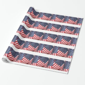 Patriotic Flag Gift Wrapping Paper