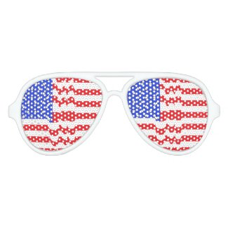 Patriotic USA American Flag Glasses CricketDiane Aviator Sunglasses