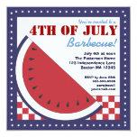 Patriotic Watermelon 4th of July Barbecue Invitation