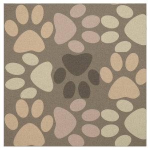 Paw Print Design Fabric